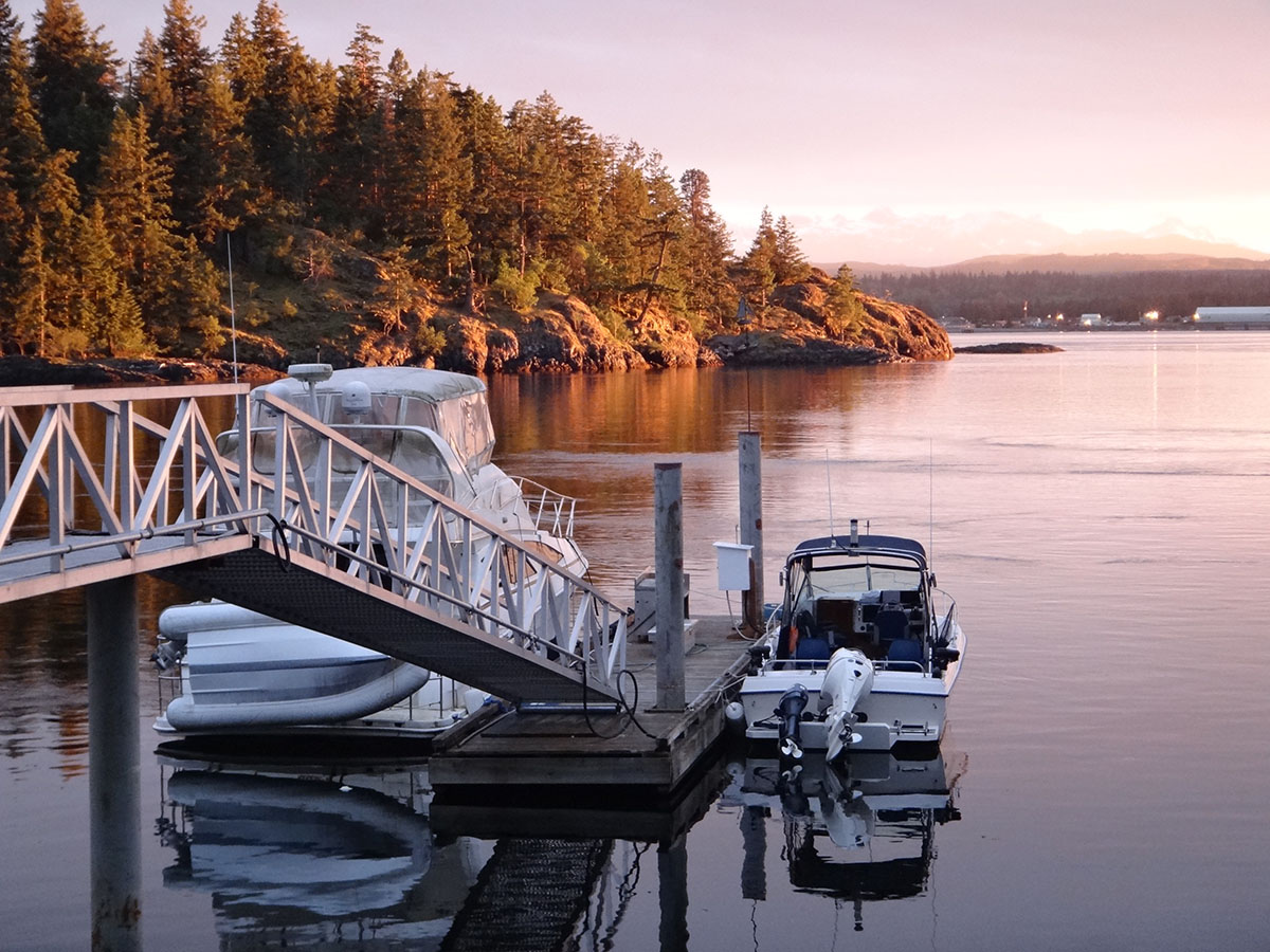 Our Dock on Quadra Island - BC Sport Fishing Specialists.
