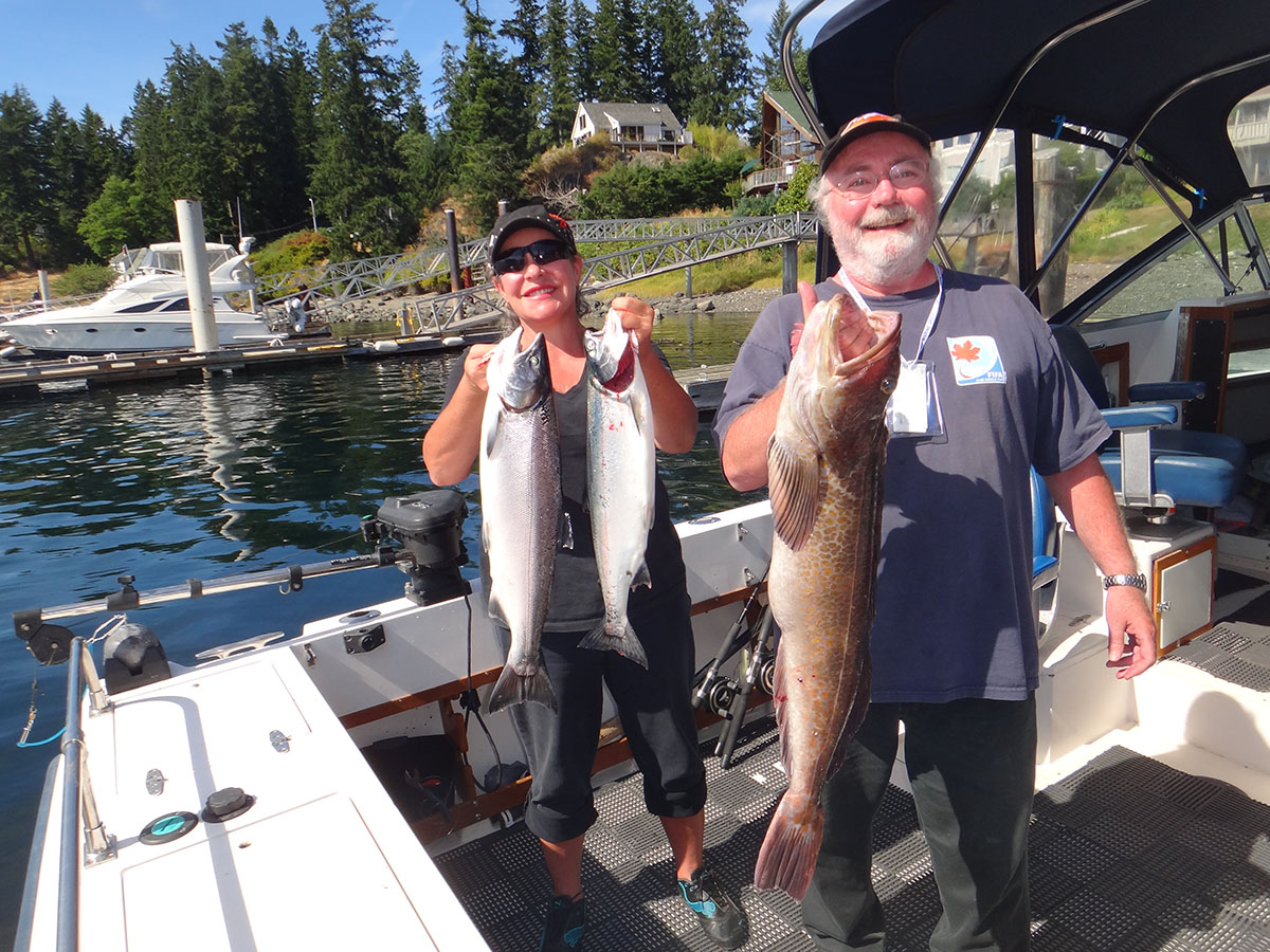 Slamon Fish in Campbell River and surrounding waters