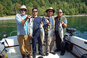 The Catch - Brightfish Charters West Coast Salmon Fishing
