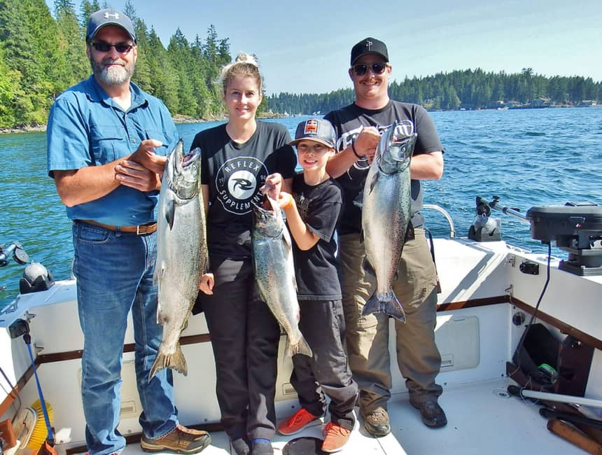 40 years experience as a Campbell River Salmon Fishing Guide