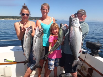 Brightfish Chaerters Personalized Trips for family and group salmon fishing adventure